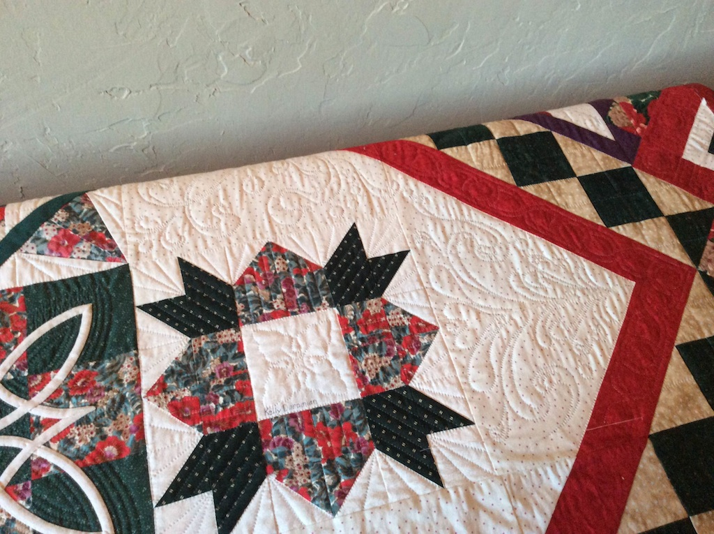 BOM quilt close-up