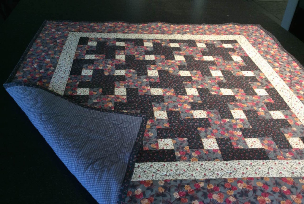 Pink and Gray Quilt